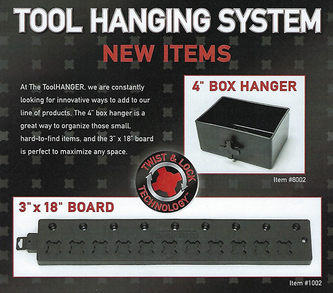 tool hanging system