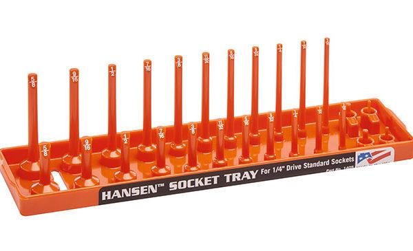 Hansen Global 3805 3//8 Drive Standard Regular /& Deep Socket Holder Orange