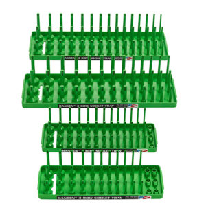 92004,4 Pack 3 Row Socket Holders,Green